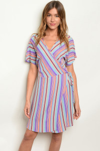 C47-A-3-D5137 BLUE STRIPES DRESS 2-2-2