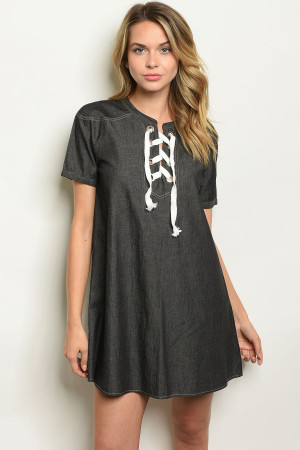 S8-11-4-D874 BLACK DENIM DRESS 2-2-2