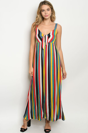 S11-19-4-D912 MULTI STRIPES DRESS 2-2-2