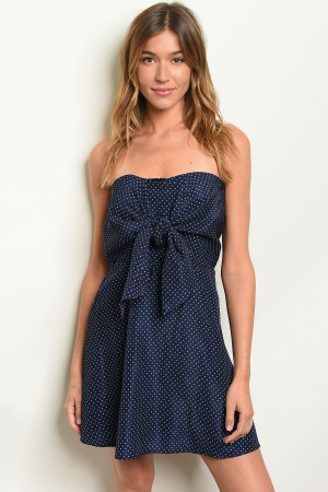S10-7-1-D3486 NAVY POLKA DOTS DRESS 2-2-2