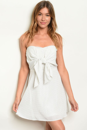 S7-10-1-D3486 WHITE POLKA DOTS DRESS 2-2-2