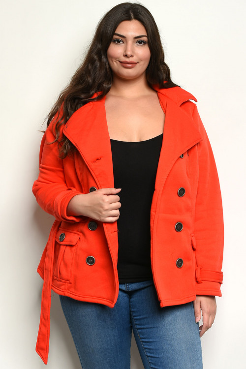 C2-B-3-J63030X RED PLUS SIZE JACKET 2-3-3