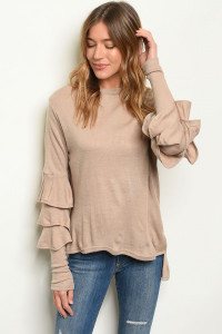 S12-9-5-T123565 TAUPE SWEATER 3-2-1