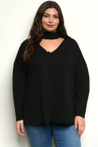 C2-B-3-T6171447X BLACK PLUS SIZE TOP 3-3