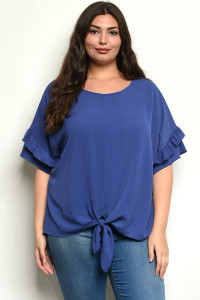 C27-B-3-T810125X INDIGO PLUS SIZE TOP 3-2-1