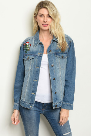 S22-11-2-J3511 BLUE DENIM WITH PATCH JACKET 3-3-2