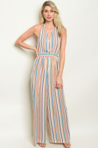 S3-10-4-J14632 MULTI STRIPES JUMPSUIT 3-2-1
