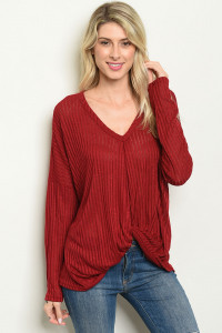 S15-12-5-T86198 BURGUNDY TOP 2-2-2