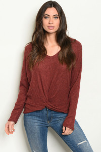 S9-20-3-T89072 BURGUNDY TOP 2-2-2