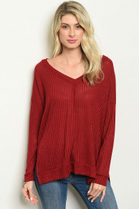 S9-19-3-T8018 BURGUNDY TOP 4-1