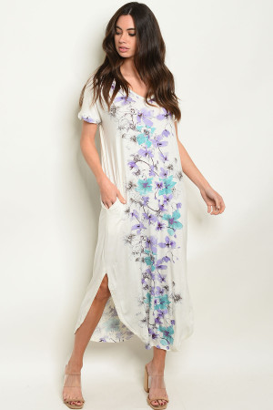 S9-16-1-D3415 OFF WHITE FLORAL DRESS 2-2-2