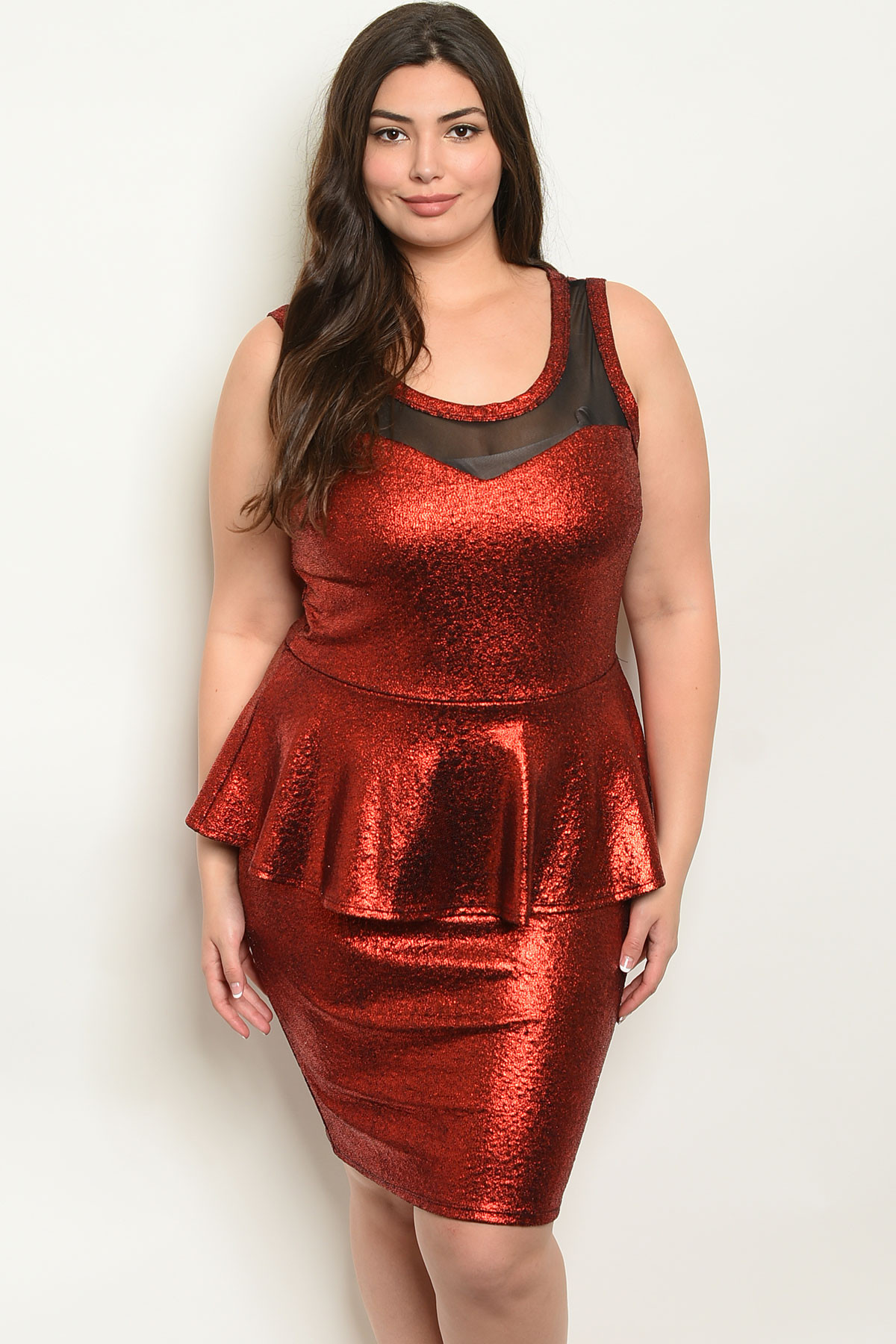 C8-A-2-D6972X RED PLUS SIZE DRESS 2-2-2 ***WARNING: California Proposition  65***