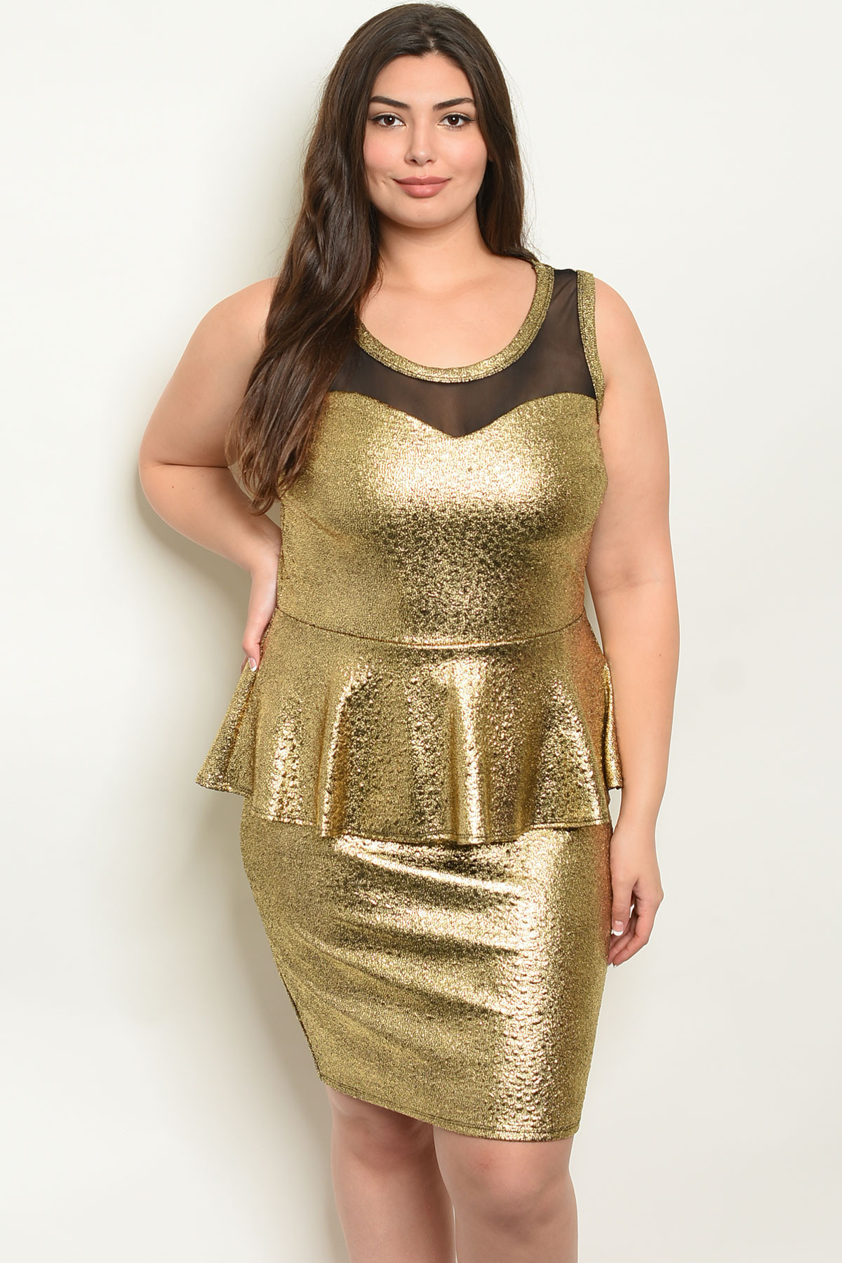 C8-A-4-D6972X GOLD PLUS SIZE DRESS 2-2-2 ***WARNING: California Proposition  65***