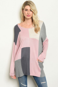 S22-9-2-T2154 PINK GRAY TOP 4-2-1