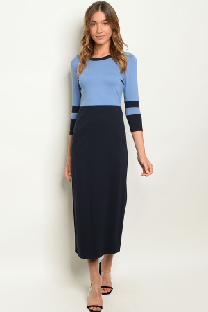 C87-A-3-D3778 BLUE NAVY DRESS 2-2-2
