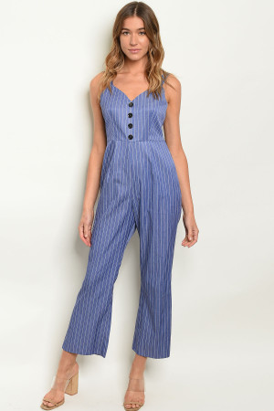 SA3-00-1-J10401 BLUE STRIPES JUMPSUIT 2-2-2