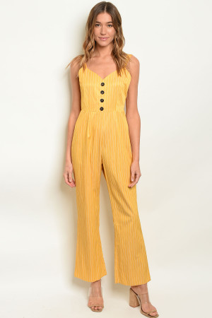 SA3-00-1-J10401 MUSTARD STRIPES JUMPSUIT 2-2-2