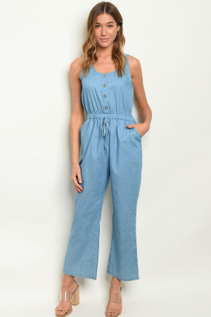 SA4-0-2-J51791 LIGHT BLUE DENIM JUMPSUIT 2-2-2
