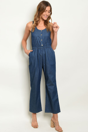 S12-1-2-J51791 DARK DENIM JUMPSUIT 2-2-2