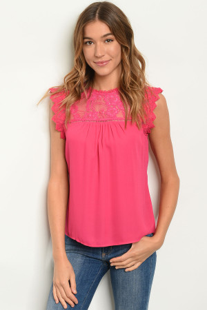 S21-2-5-T81147 FUCHSIA TOP 2-2-2