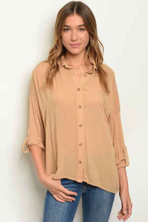 S21-2-5-T26012 TAUPE TOP 2-2-2