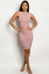 S12-6-1-D11783 MAUVE W/ STONES DRESS 2-2-2 ***WARNING: California Proposition 65***