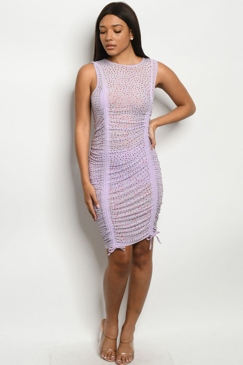 S12-6-1-D11783 LILAC W/ STONES DRESS 2-2-2 ***WARNING: California Proposition 65***