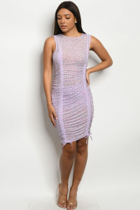 S15-7-1-D11783 LILAC W/ STONES DRESS 3-2-2 ***WARNING: California Proposition 65***