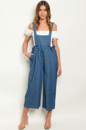 S16-8-3-J4211 DENIM BLUE JUMPSUIT 1-2-1