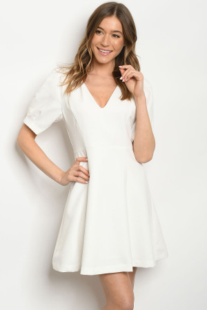 S11-8-2-D0194 OFF WHITE DRESS 3-2-1