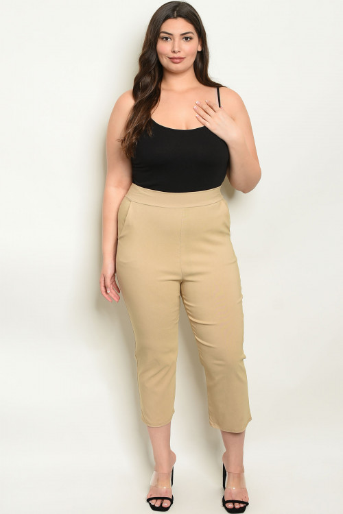C102-A-3-P416X KHAKI PLUS SIZE PANTS 2-2-2