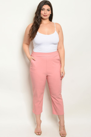 C100-A-6-P416X PINK PLUS SIZE PANTS 2-2-2