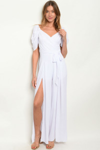 S14-1-3-J5498 WHITE JUMPSUIT 3-2-1