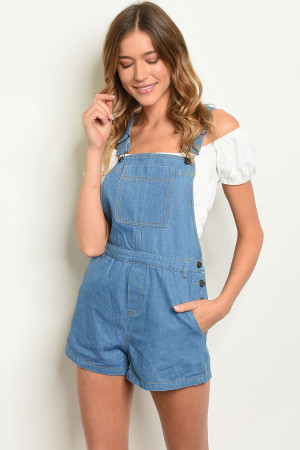 S2-5-1-O80975 BLUE DENIM OVERALLS 2-2-2