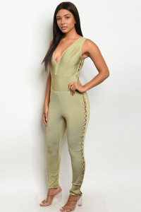 S12-11-1-J4826 OLIVE JUMPSUIT 2-2-1 ***WARNING: California Proposition 65***