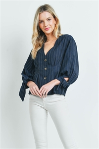 S15-3-3-T1575 NAVY STRIPES TOP 3-2-1