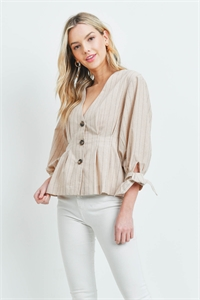 S15-4-3-T1575 NUDE STRIPES TOP 3-2-1