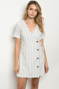 S12-8-3-D2084 IVORY NAVY STRIPES TOP 3-2-1