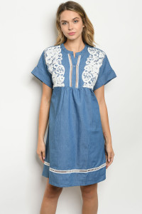 S8-14-2-D15482 BLUE DENIM DRESS 2-2-2