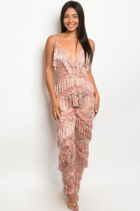 S15-6-1-J95723 MAUVE W/STUDS JUMPSUIT 2-2-2 ***WARNING: California Proposition 65***