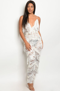 S15-6-2-J95723 WHITE W/STUDS JUMPSUIT 2-2-2 ***WARNING: California Proposition 65***