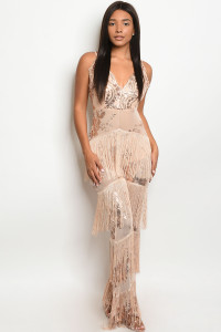 S17-11-1-J9572 NUDE W/ SEQUINS JUMPSUIT 1-1-1 ***WARNING: California Proposition 65***