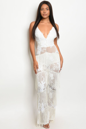 S10-20-2-J9572 WHITE W/ SEQUINS JUMPSUIT 1-2-2 ***WARNING: California Proposition 65***