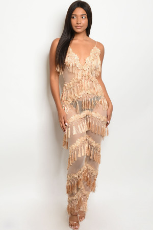S19-12-2-J95722 NUDE W/ STUDS JUMPSUIT 1-2-2-2 ***WARNING: California Proposition 65***