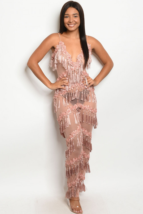 S11-15-2-J95722 MAUVE W/ STUDS JUMPSUIT 2-2-2 ***WARNING: California Proposition 65***
