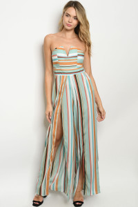 S11-9-2-J71569 BLUE MULTY STRIPES JUMPSUIT 2-2-2