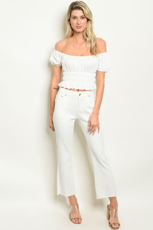 S7-9-3-P1317 OFF WHITE PANTS 3-2-1