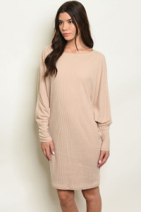 C24-A-6-D9054 TAUPE DRESS 2-2-2