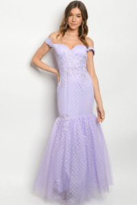 S11-12-3-D26193 LAVENDER W/ DOTS DRESS 2-2-2