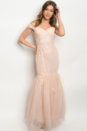 S20-5-1-D26193 BLUSH W/ DOTS DRESS 2-2-2